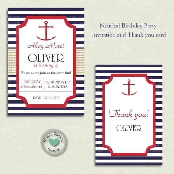 Nautical Birthday Party Printables Ilonas Passion