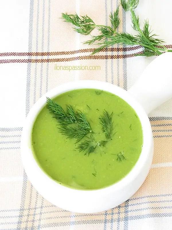Creamy Sweet Pea Soup by ilonaspassion.com