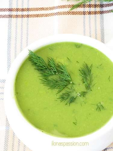 Creamy Sweet Pea Soup by ilonaspassion.com