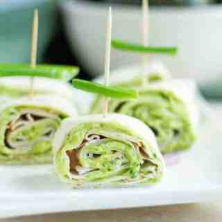 Cilantro & Avocado Turkey Pinwheels