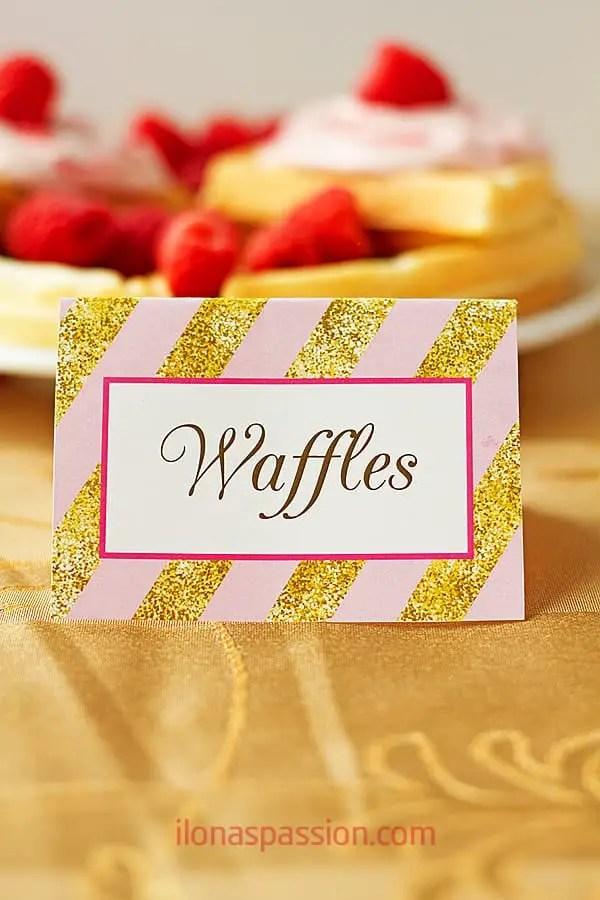 Raspberries and Cream Greek Yogurt Waffles - Sweet, delicious and fluffy raspberries and cream greek yogurt waffles recipe topped with raspberry cream cheese frosting. by ilonaspassion.com I @ilonaspassion