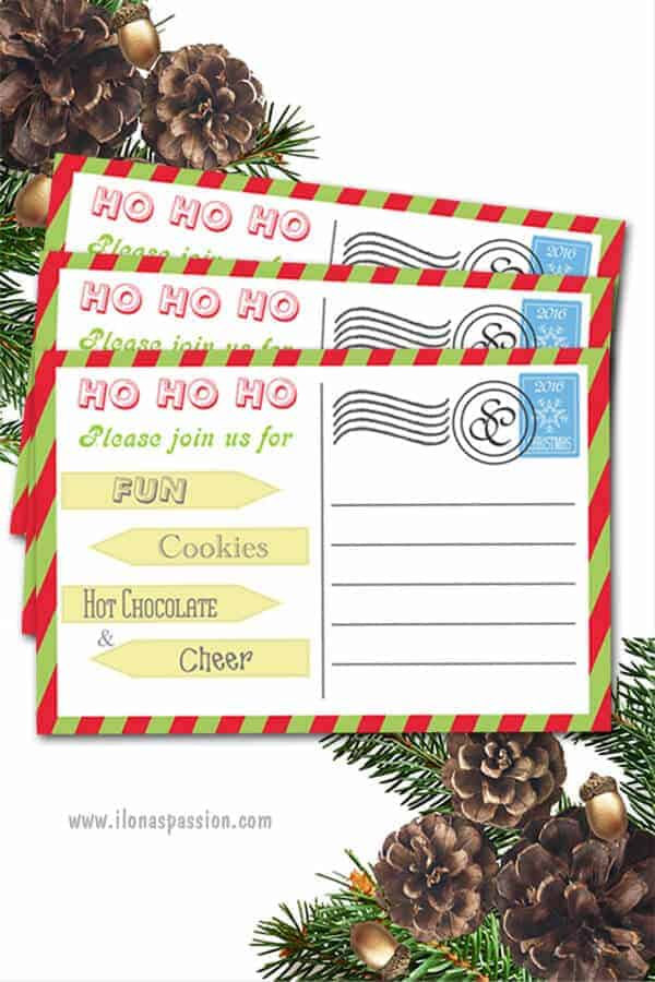 2 FREE printable cookie exchange invitations are great for Christmas or Holiday party gatherings! Download them and make your cookie exchange party perfect! by ilonaspassion.com