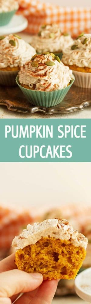 Easy Pumpkin Cupcakes with Cinnamon Frosting recipe made from scratch is perfect for Fall. Such and delicious treat! by ilonaspassion.com I @ilonaspassion