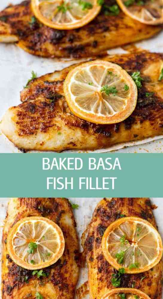 Baked basa fish fillet recipe with sweet paprika and basil is the perfect weeknight dinner. Easy and quick to make by ilonaspassion.com I @ilonaspassion