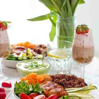 Dinner ideas with chicken for two as elegant dinner party menu for tonight, Saturday, Friday or any other day by ilonaspassion.com I @ilonaspassion