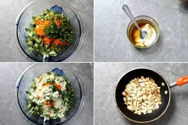 Ingredients to make salads with raw veggies.
