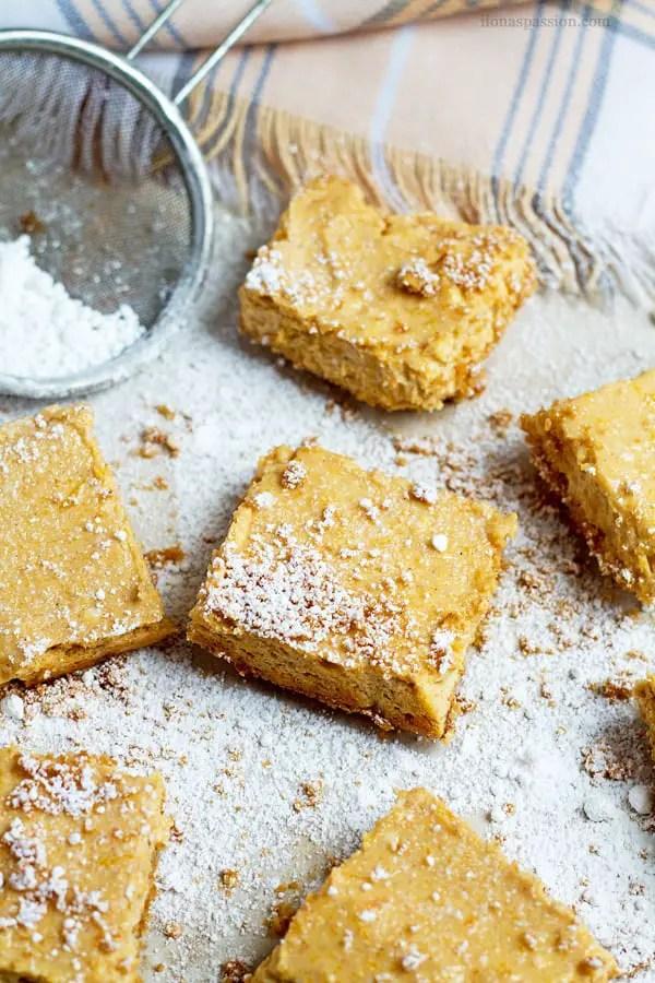 Butternut squash squares.