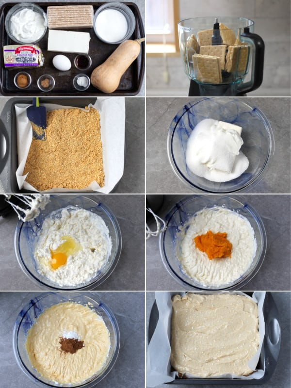 How to make cheesecake bars.