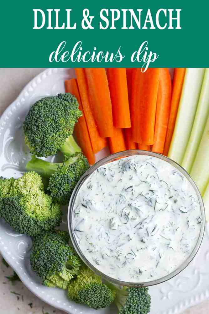Herb sauce with broccoli, carrots, celery.