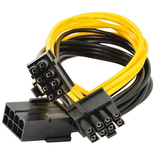 8 Pin Female Extension Splitter Cable