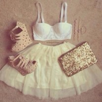 stwoae-l-610x610-skirt-tumblr+clothes-girly+outfit-gold-studs-heels-white+bra-cute-summer-perfect-party-tumblr-tumblr+girl-tumblr+outfit-girly-girly+outfits+tumblr-gold+sequins-gold+studs-bralette
