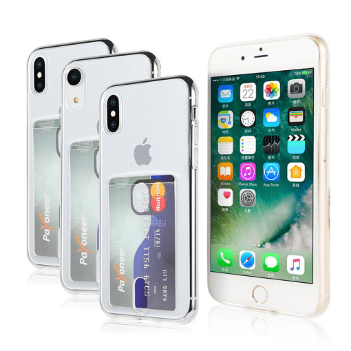 Transparent Soft TPU Card Holder Case for iPhone 11/11 Pro/11 Pro Max