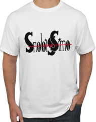 BLANCA NEGRO - Camiseta SNOBISSIMO Blanca