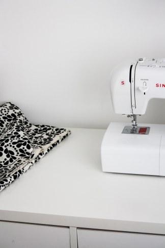 my studio sewing