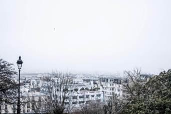 Paris View with fog