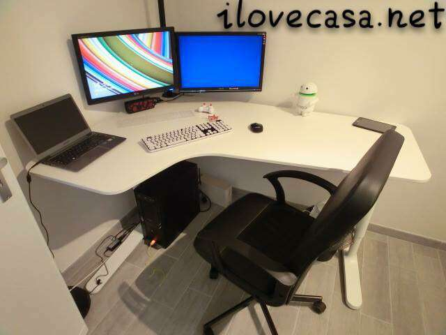 Trova la lista di poltrone ikea scrivania al miglior prezzo. Postazione Pc Scrivania Poltrona Ikea E Supporto Multi Monitor Da Tavolo I Love Casa