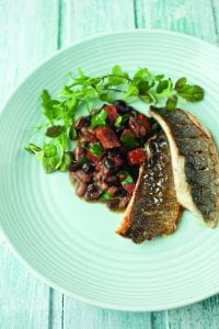 Neven Maguire's Sea bass and chorizo cassoulet