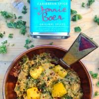 Detox avondmaaltijd recept Boerenkool stamppot met zoete aardappel en mango. Winter gerecht voor tijdens je detox kuur!