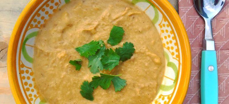 Makkelijke detox soep voor in je detox kuur: Zoete aardappelsoep met ras el hanout. makkelijk met een Marokkaans tintje!
