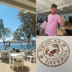 Nikolas taverna Mykonos. Traditioneel Grieks eten met een prachtig uitzicht en een super aardige familie.