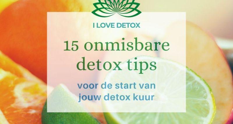 Voorbereiding van je detox kuur of sapkuur? Start met 15 simpele en goedkope detox tips voor meer energie en een betere spijsvertering!