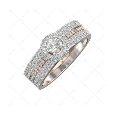 0.30 Ct Delightful Elegance Solitaire Engagement Ring In Two-Tone Gold For Women v1