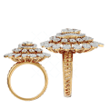Baronial Blossoms Diamond Ring In Yellow Gold For Women v3