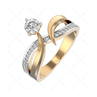 0.30 ct Sensuous Seduction Solitaire Engagement Ring in Yellow Gold For Women v1