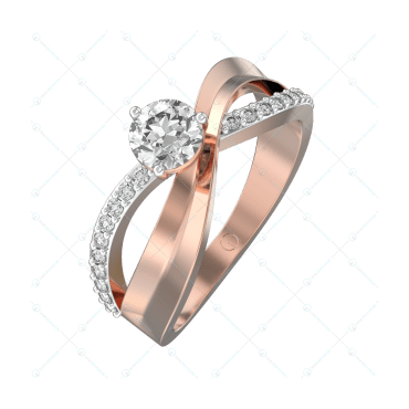 0.40 ct Twists Of Tranquility Solitaire Engagement Ring in Pink Gold For Women v1