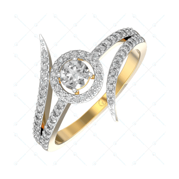 0.25 ct Snazzy Shine solitaire Engagement Ring In Yellow Gold For Women v1