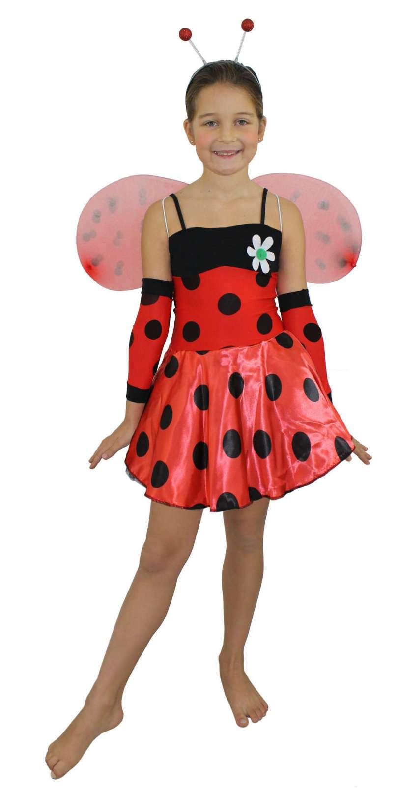 Girls Lady Bug Costume at ILoveFancyDress.com