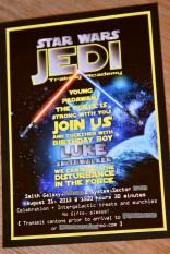 jedi training party invitation