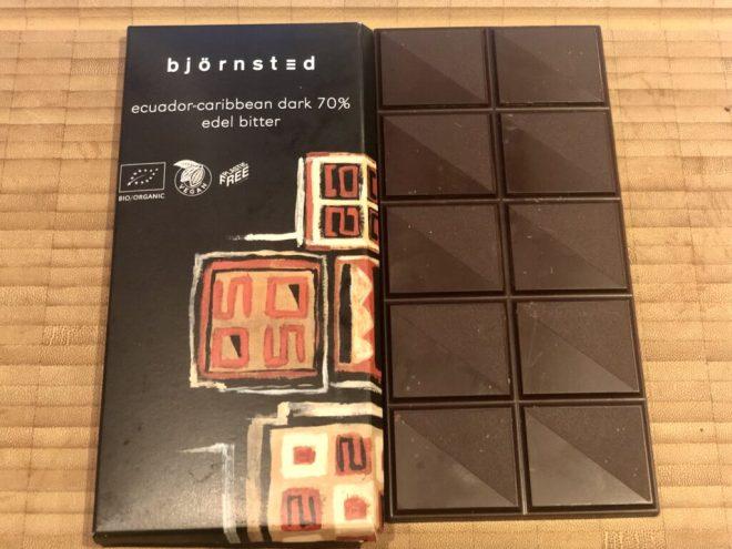 Björnsted Økologisk Mørk Chokolade 70%