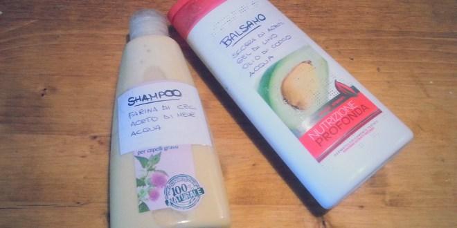 Shampoo e balsamo ecobio per capelli grassi