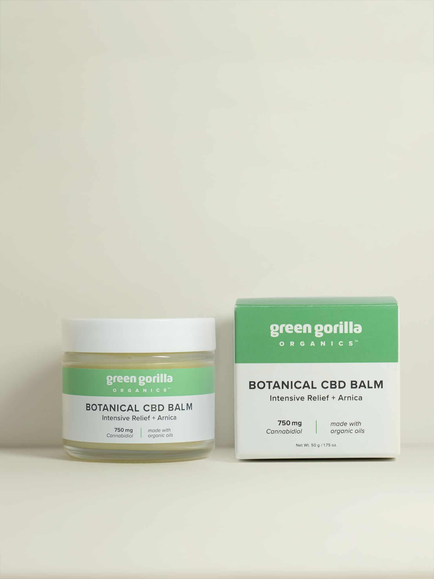 Botanical CBD Balm Intensive Relief - 750mg | Green Gorilla