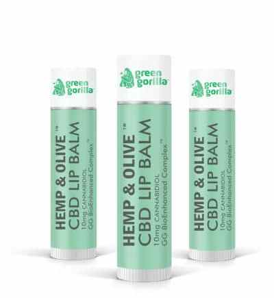 Green Gorilla 'Hemp & Olive' CBD Lip Balms Introduced