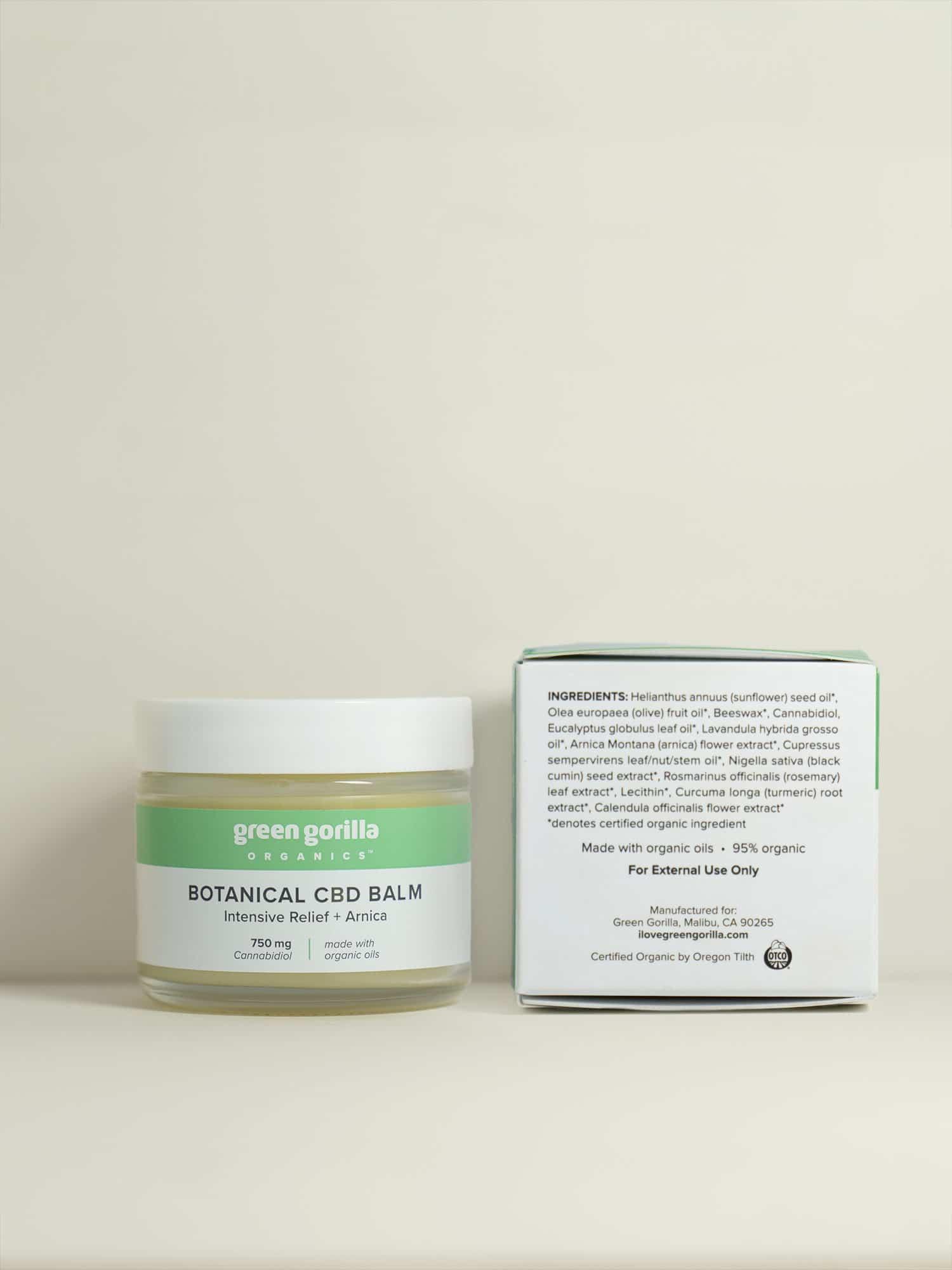Intensive Relief Botanical CBD Balm - 750mg | Green Gorilla