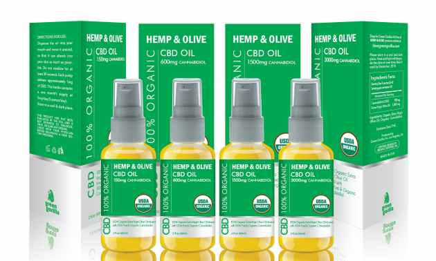 Green Gorilla's hemp and olive cbd oil line