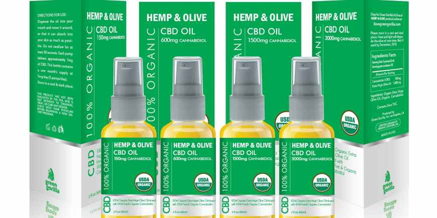 Green Gorilla Expands Hemp & Olive™ CBD Product Line With 1500mg and 3000mg Bottles