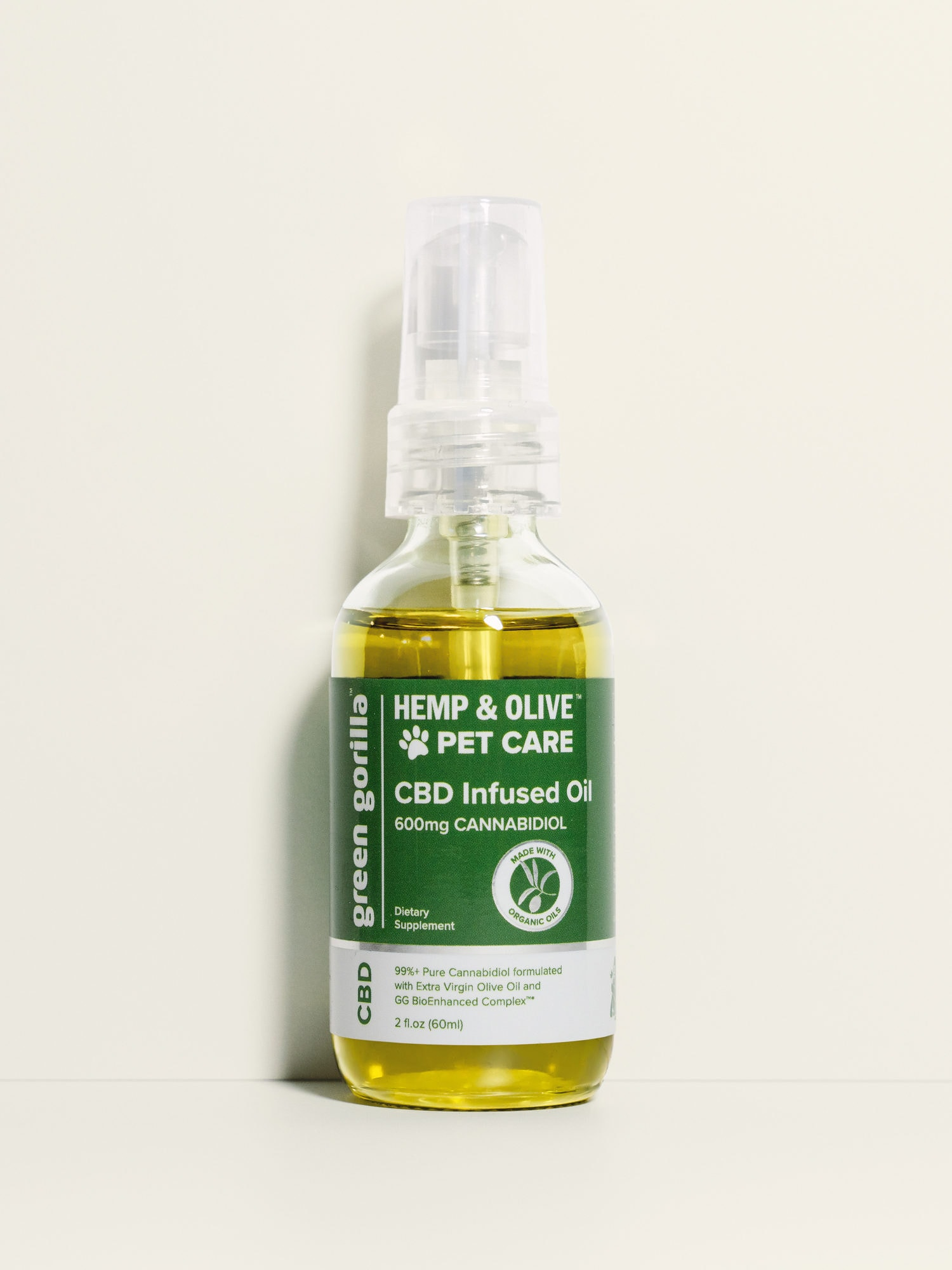Pure CBD Oil for Pets Hemp Infused - 600mg | Green Gorilla