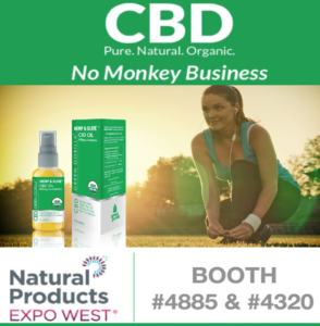 Green Gorilla CBD products at Natural Products West Trade Show