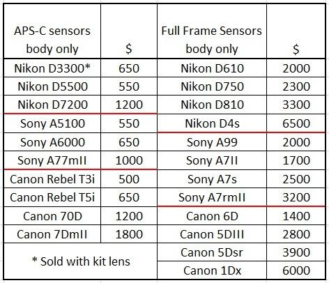 list of full frame canon cameras | Framess.co