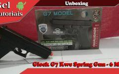 Unboxing Pistola Airsoft Glock G7 Kwc Spring Gun – 6 Mm