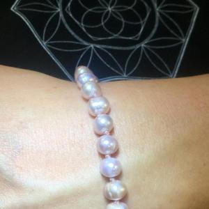 Braccialetto di Perle Rosa