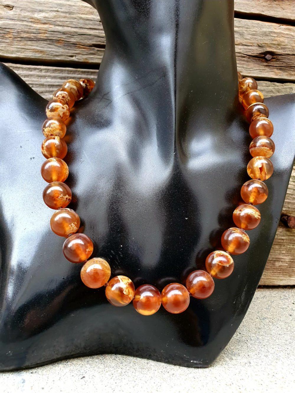 collana sfere piccole ambra, IStone