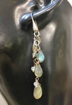 orecchini argento labradorite, IStone