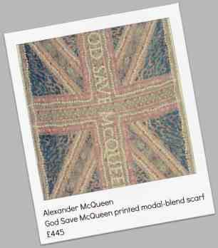 Alexander McQueen God Save McQueen printed modal-blend scarf £445