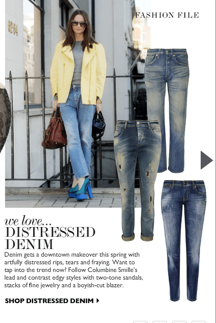 SHOP DISTRESSED DENIM STYLE AT NET-A-PORTER