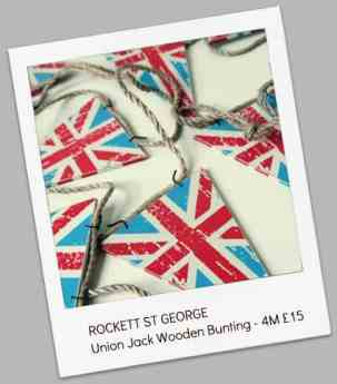 ROCKETT ST GEORGE  Union Jack Wooden Bunting - 4M