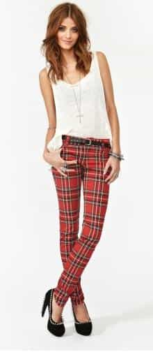 Tartan Skinny Jeans £48.20